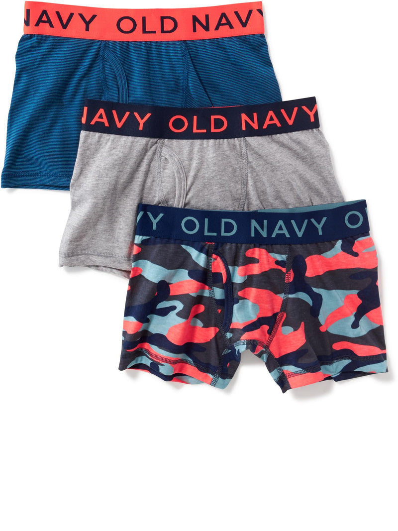 ON Boxer-Briefs 3-Pack for Boys - Camouflage Combo