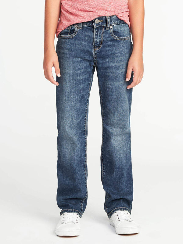 Basic Jeans-Flex Straight-Medium Wash