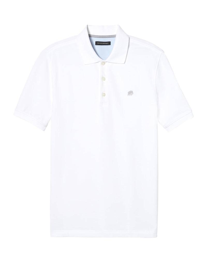 Camisa Polo-Branded Pique -White 500