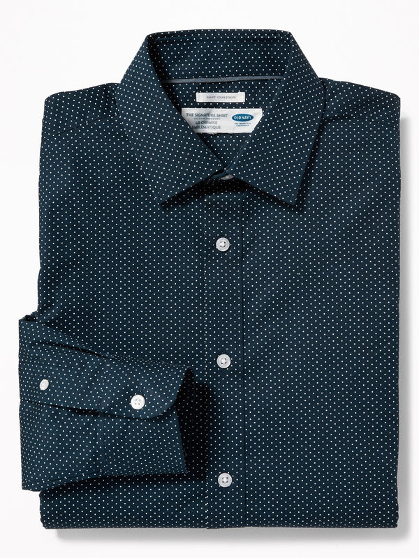Camiseta Manga Larga Slim Signature Shirt-In The Navy