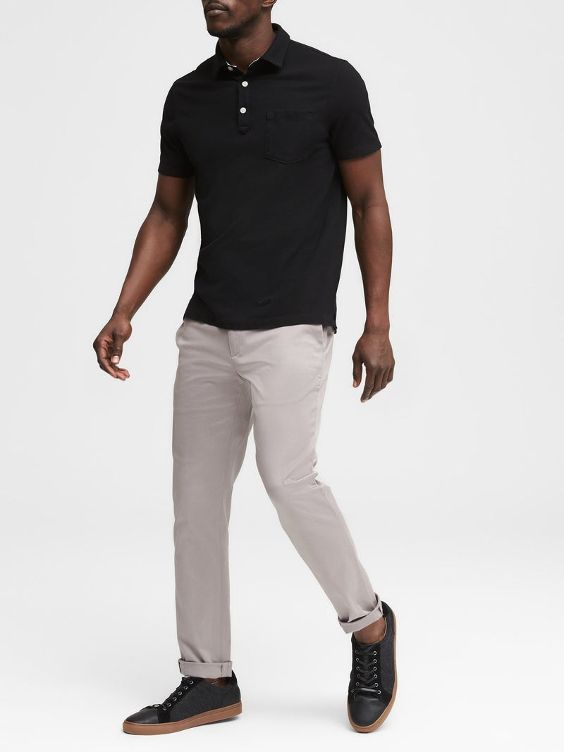Camisa Polo-Performance Pique -Black