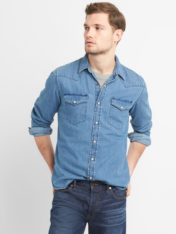 Camisa- Slim Fit - Denim