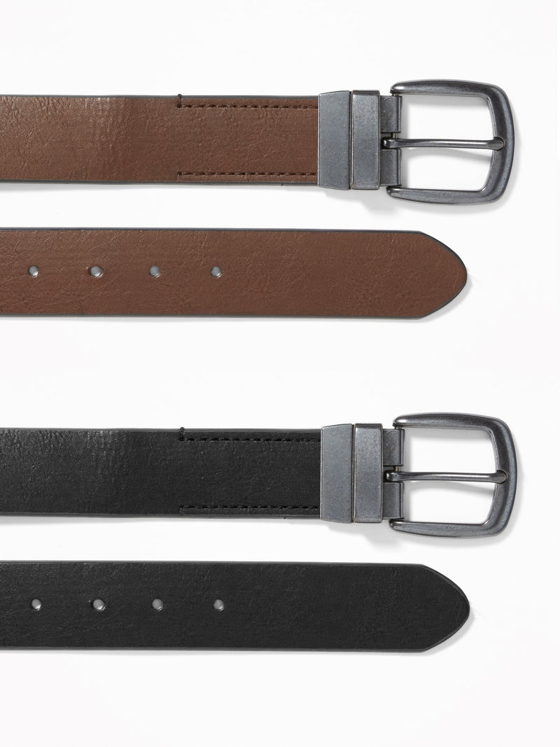ON Reversible Belt For Men - Dark Brown