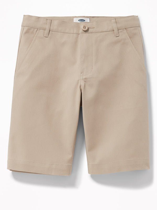 ON Built-In Flex Twill Straight Uniform Shorts For Boys - Shore Enough
