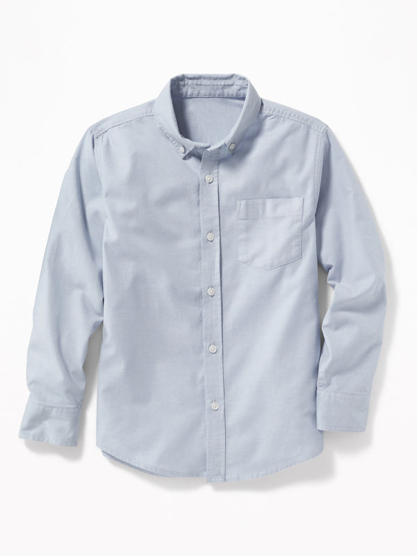 ON Lightweight Built-In Flex Oxford Uniform Shirt For Boys - Out Of The Blue