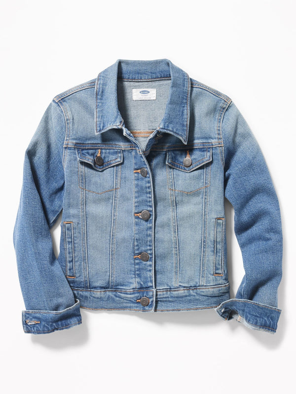 Jacket Medium-Wash Jean Jacket For Girls - Medium Wash