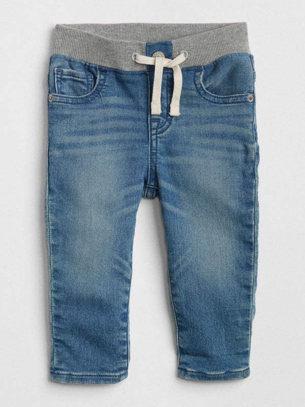 Pantalon Denim - Pull On Slim - Azul