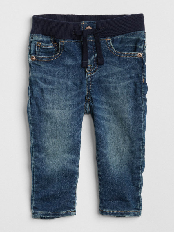 Pantalon Denim - Pull On Slim - Azul oscuro