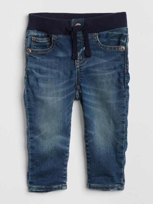 Gap Pantalón Baby Pull-On Slim Fit Jeans - Azul Oscuro