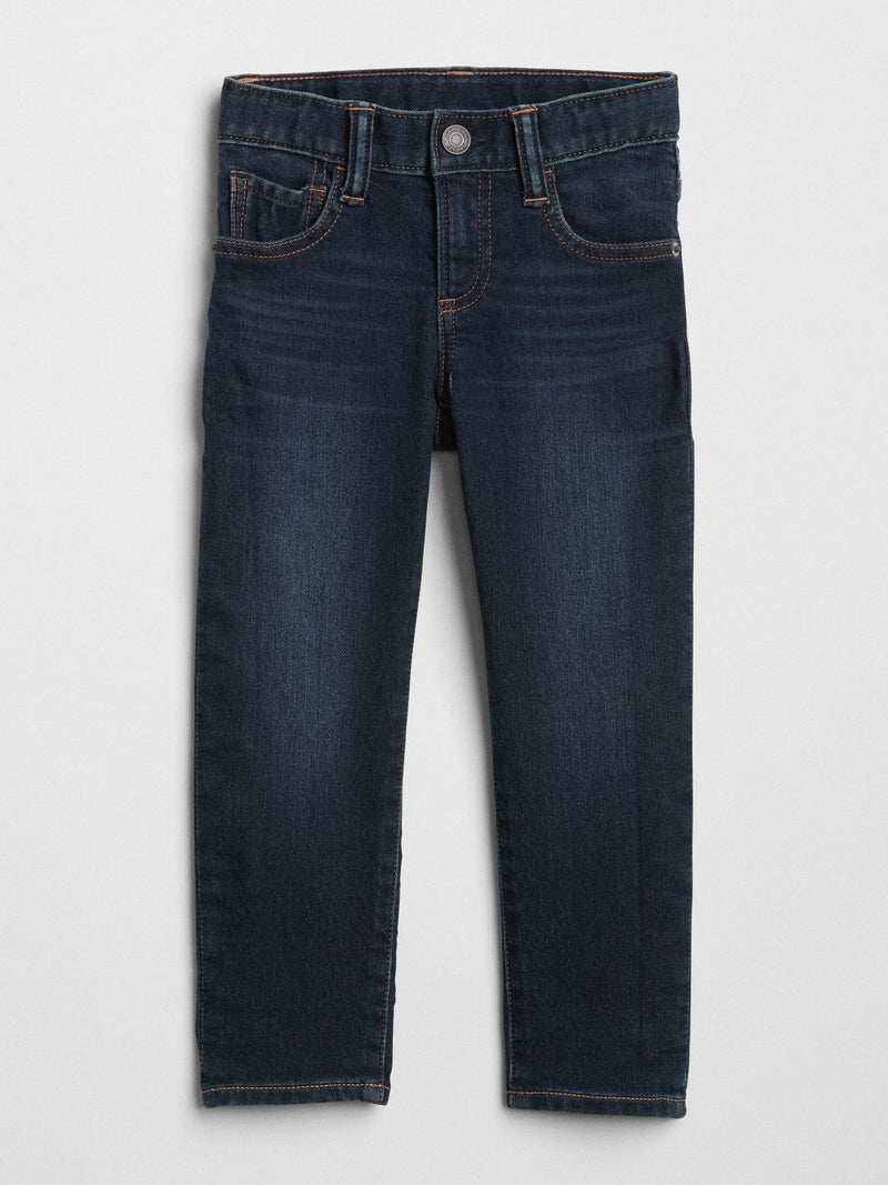 Pantalon Denim- Slim con Stretch - Azul oscuro
