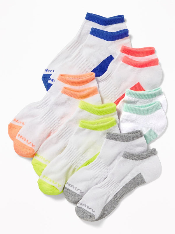 ON Accesorio Athletic Sock 6-Pack For Girls - Neon