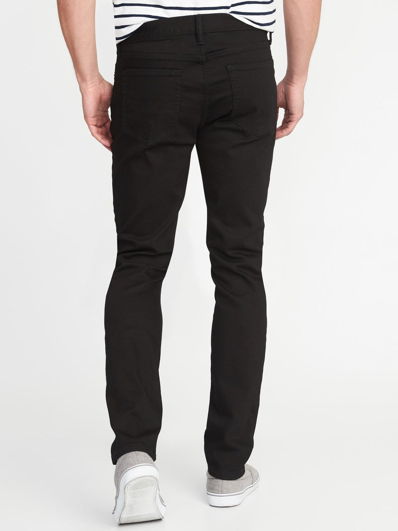 ON Denim Skinny Built-In Flex Never-Fade Jeans For Men - Negro Rinse