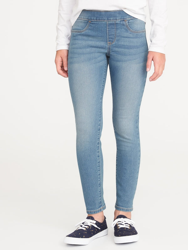 Jeans Skinny Pull On-LIGHT WASH