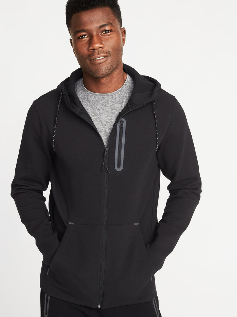 ON Dynamic Fleece Zip Hoodie for Men - Negro Jack
