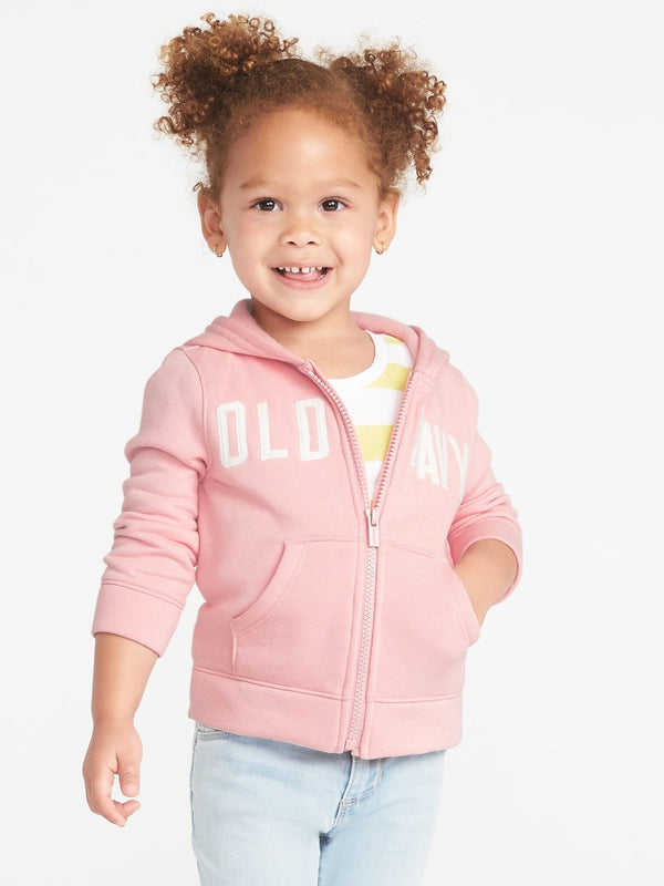 ON Sudadera Logo-Graphic Zip Hoodie For Toddler Girls - Bella Donna Rosa