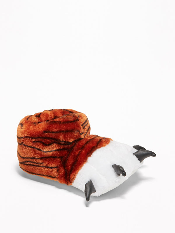 ON Plush Critter Slippers For Boys - Tiger