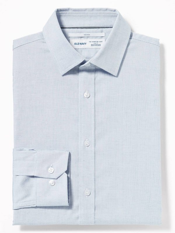Camiseta Manga Larga Slim Signature Shirt-Fresh Air Blue Dobby