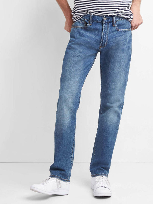 Jeans 5 Pkt-Slim Faded Medium-Denim