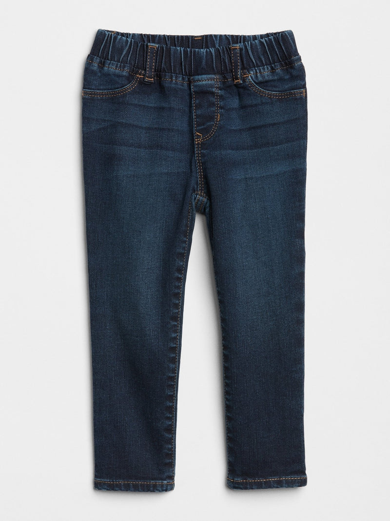 Pantalon Denim- Jegging con Stretch- Dark Wash