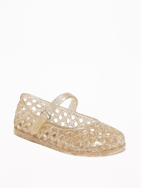 Zapato - Basket Jelly-Gold Glitter