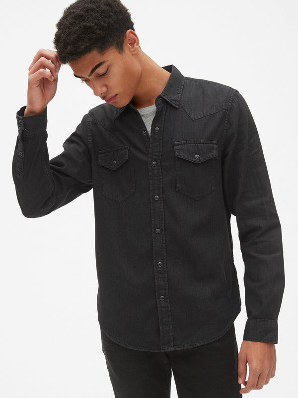 Camisa- Slim Fit - Denim Negra