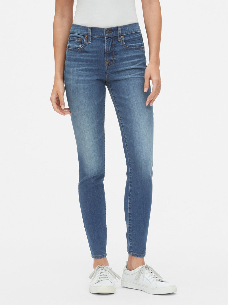 Denim - Mid Rise Skinny - Medium Indigo