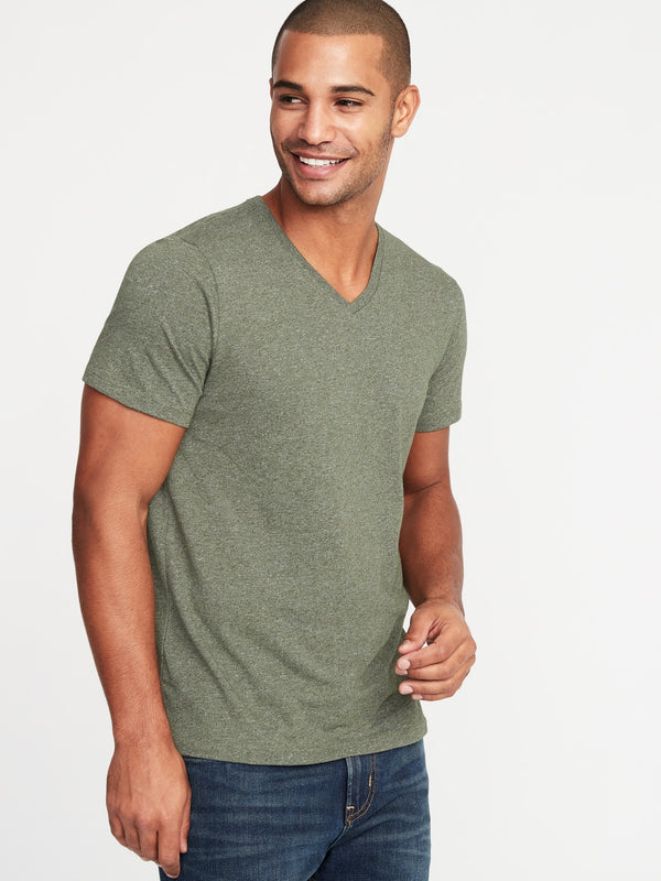 ON Camiseta Soft-Washed Slub-Knit V-Neck Tee for Men - Another Verde World