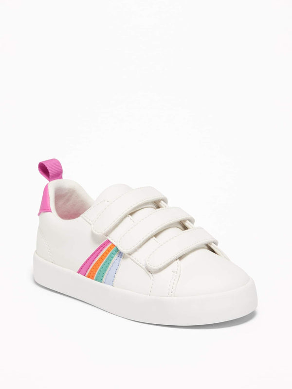 Zapato Triple Strap Velcro Sneak-Rainbow