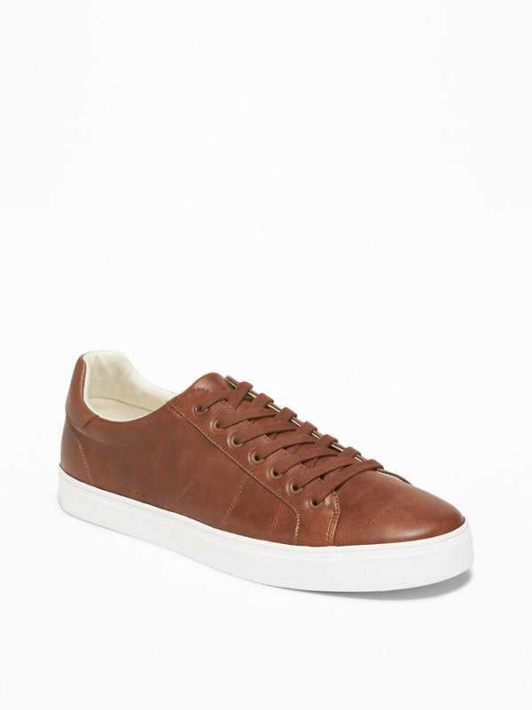 ON Faux-Leather Sneakers for Men - Cognac