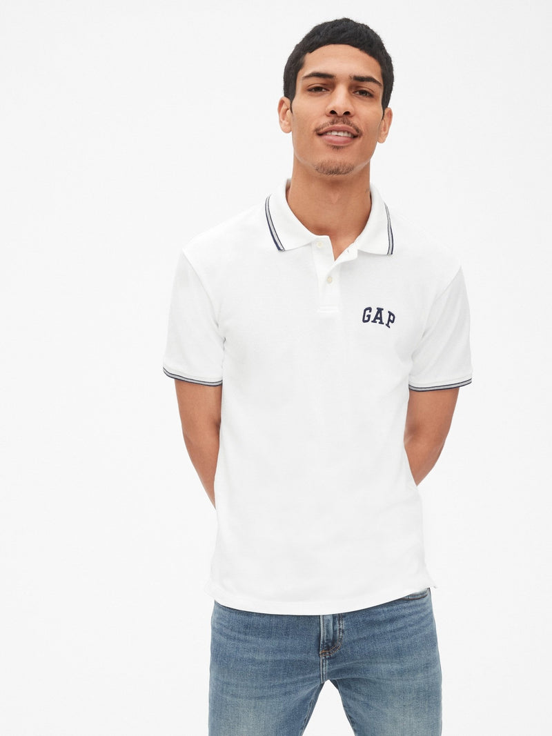 Camiseta - Polo Logo - Blanco