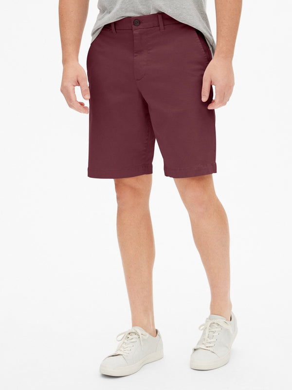 Shorts-10 In Casual Stretch Flex-Pinot Noir 796