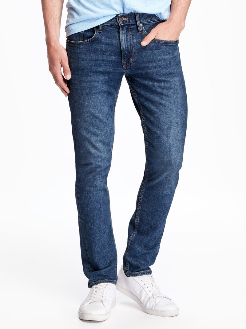 ON Denim Skinny Built-In Flex Jeans For Men - Medium Wash