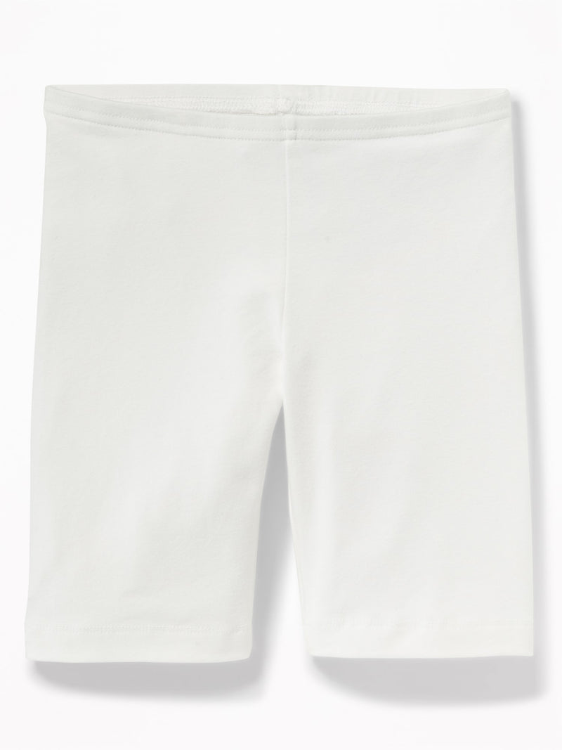 Shorts-Long Bike Short-Bright White