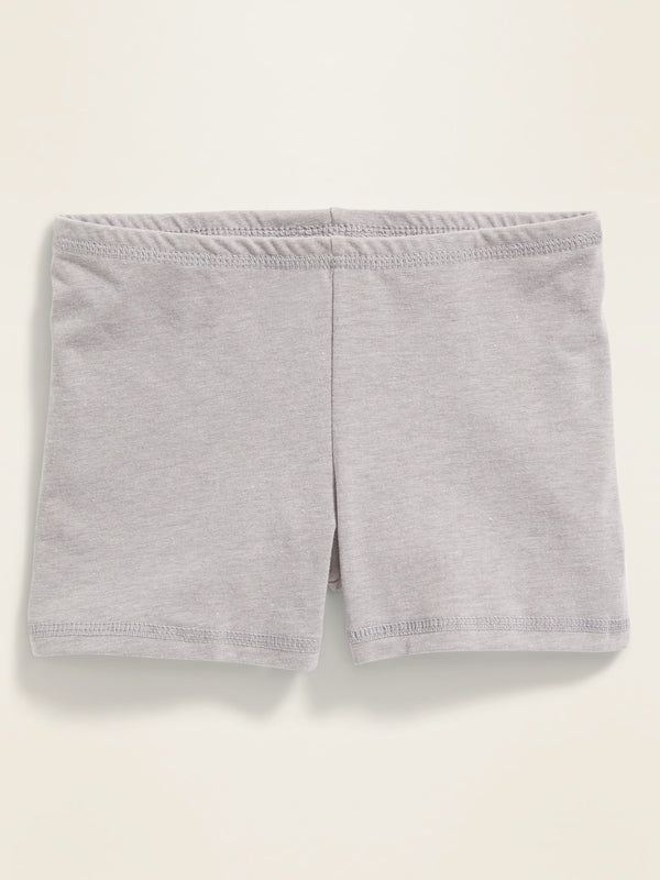 ON Jersey Bike Shorts For Girls - Heather Gris