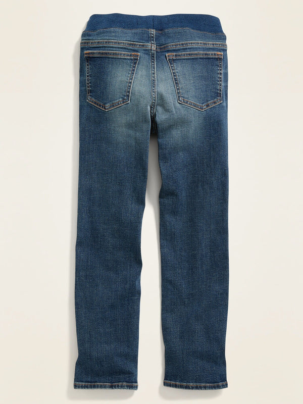 Fashion Denim-Knit Waist Karate Indigo Destroy-Medium Wash