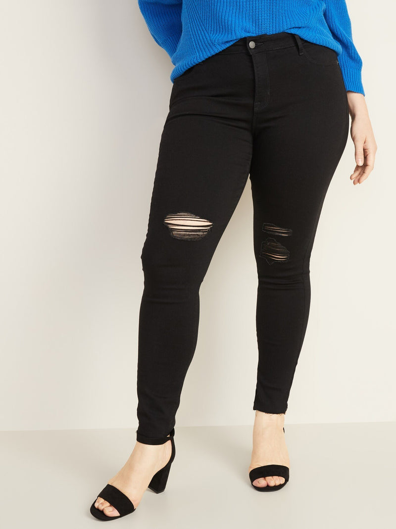 ON Denim Mid-Rise Raw-Edge Rockstar Ankle Jeans For Women - Negro Jack