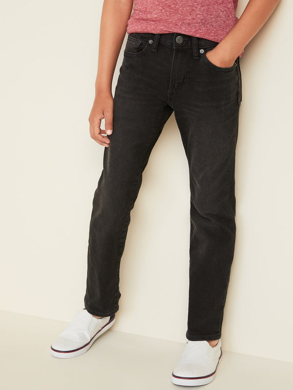 Basic Jeans-Flex Straight -Black Jack