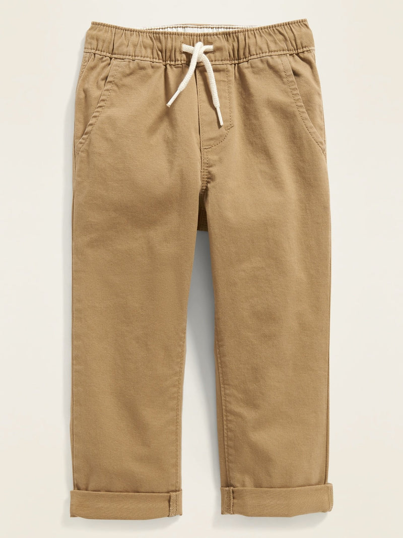 ON Pantalón Relaxed Pull-On Twill Pants For Toddler Boys - Toast Of The Town