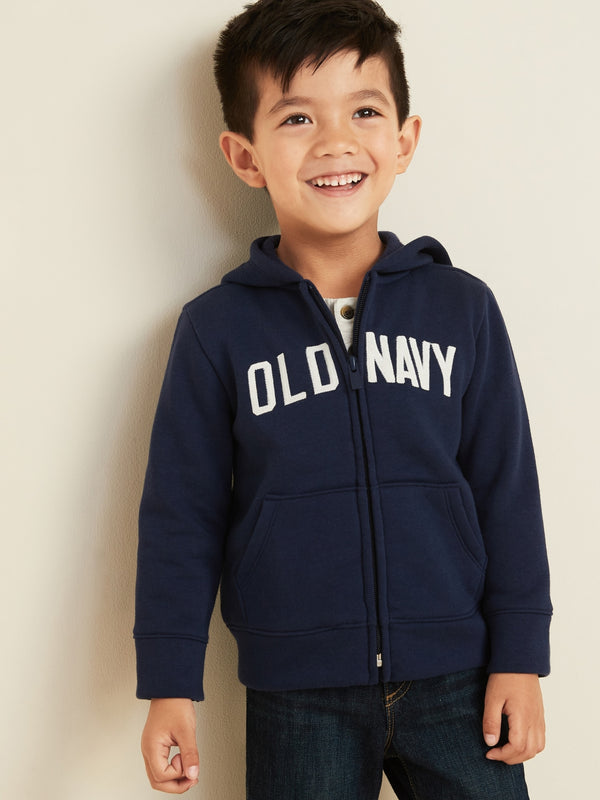 ON Sudadera Logo-Graphic Zip Hoodie for Toddler Boys - In The Navy