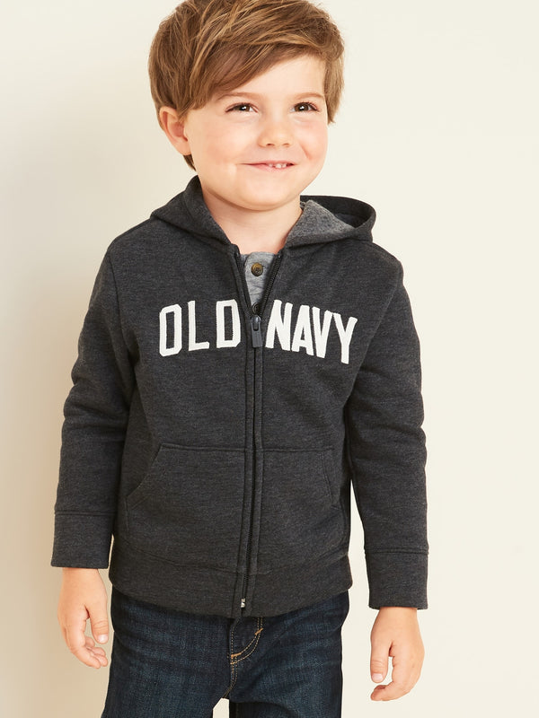 ON Sudadera Logo-Graphic Zip Hoodie for Toddler Boys - Dark Charcoal