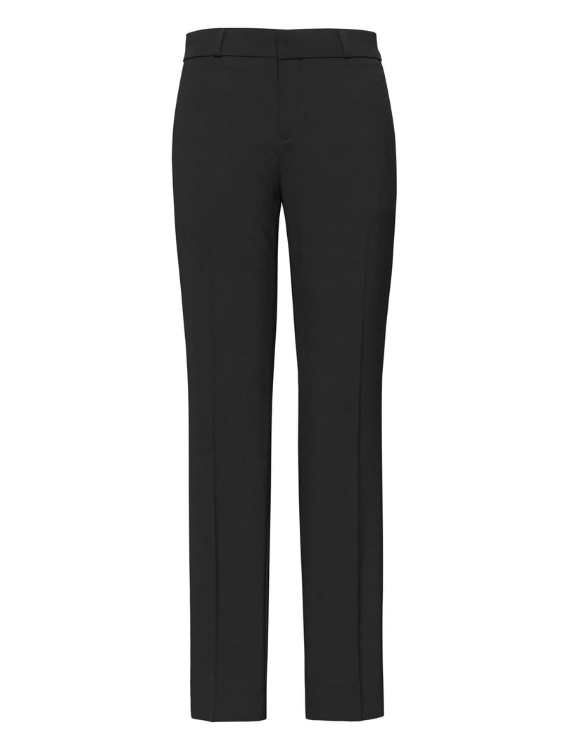 BR Avery Straight-Fit Washable Wool-Blend Ankle Pant - Negro