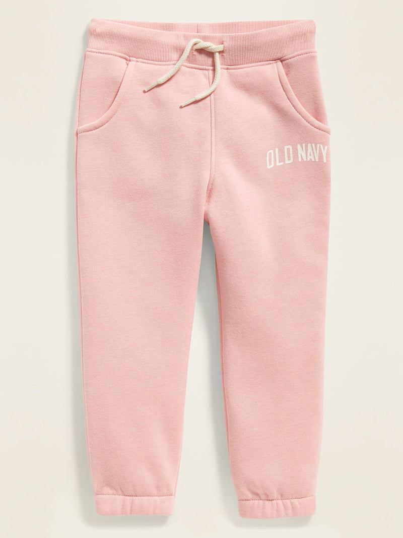 ON Pantalón Logo-Graphic Functional-Drawstring Joggers For Toddler Girls - Bella Donna Rosa