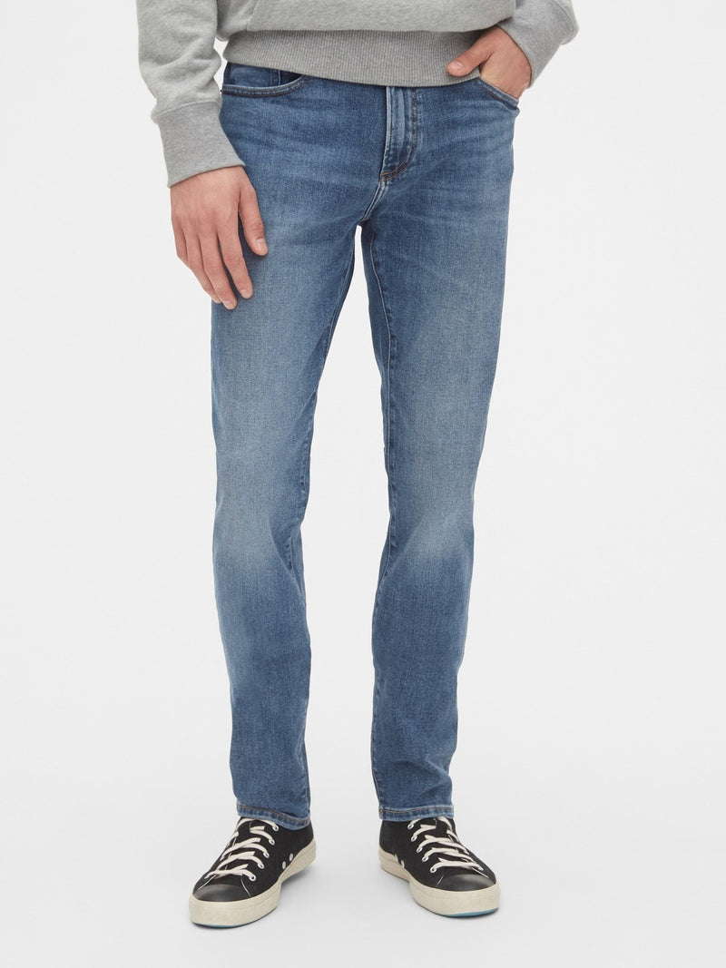 Denim - 5 Bolsillos Skinny -Medium Indigo