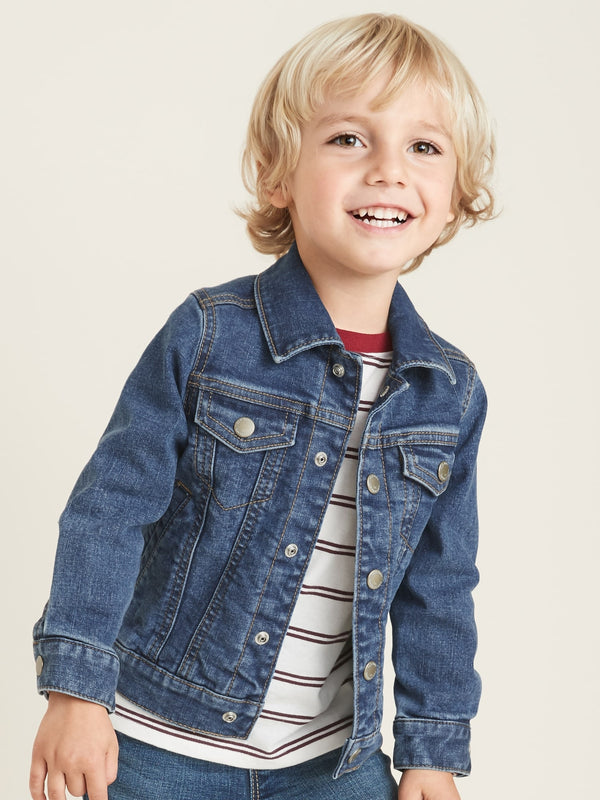 ON Built-In Flex Jean Jacket For Toddler Boys - Medium Wash