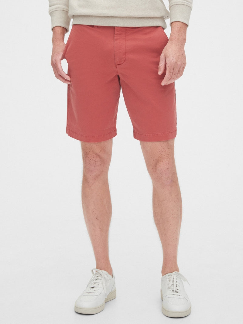 Shorts-10 In Casual Stretch Flex-MINERAL RED