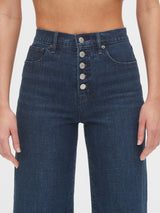 Gap High Rise Wide-Leg Crop Jeans - Indigo