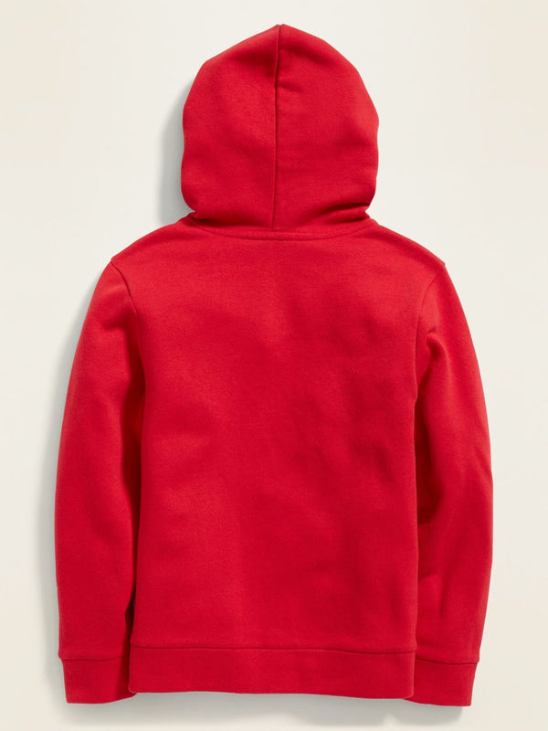 Sweater-Logo Hoodie-Red