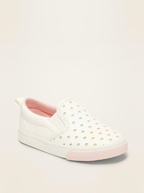 ON Perforated Slip-Ons For Toddler Girls - Calla Lily