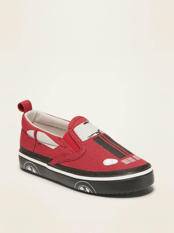 Zapato Transport Slip On-Robbie Red