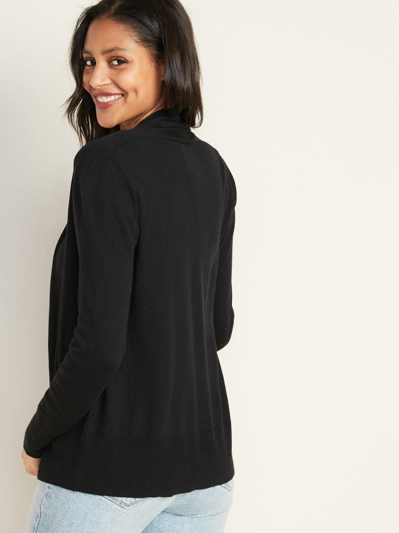 Sweater-Shortie Of Waterfall-Black Jack